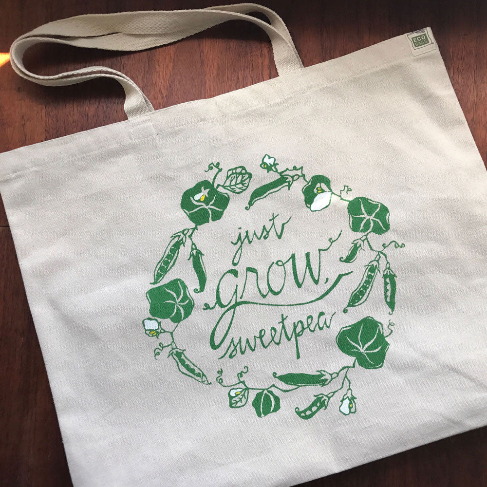 Just Grow, Sweet Pea Tote