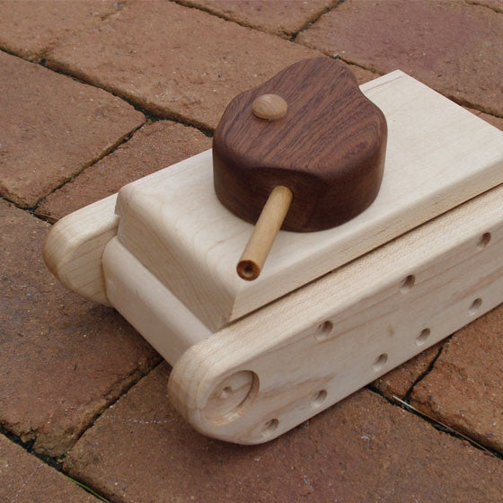 Recycled-Wood Tank Toy