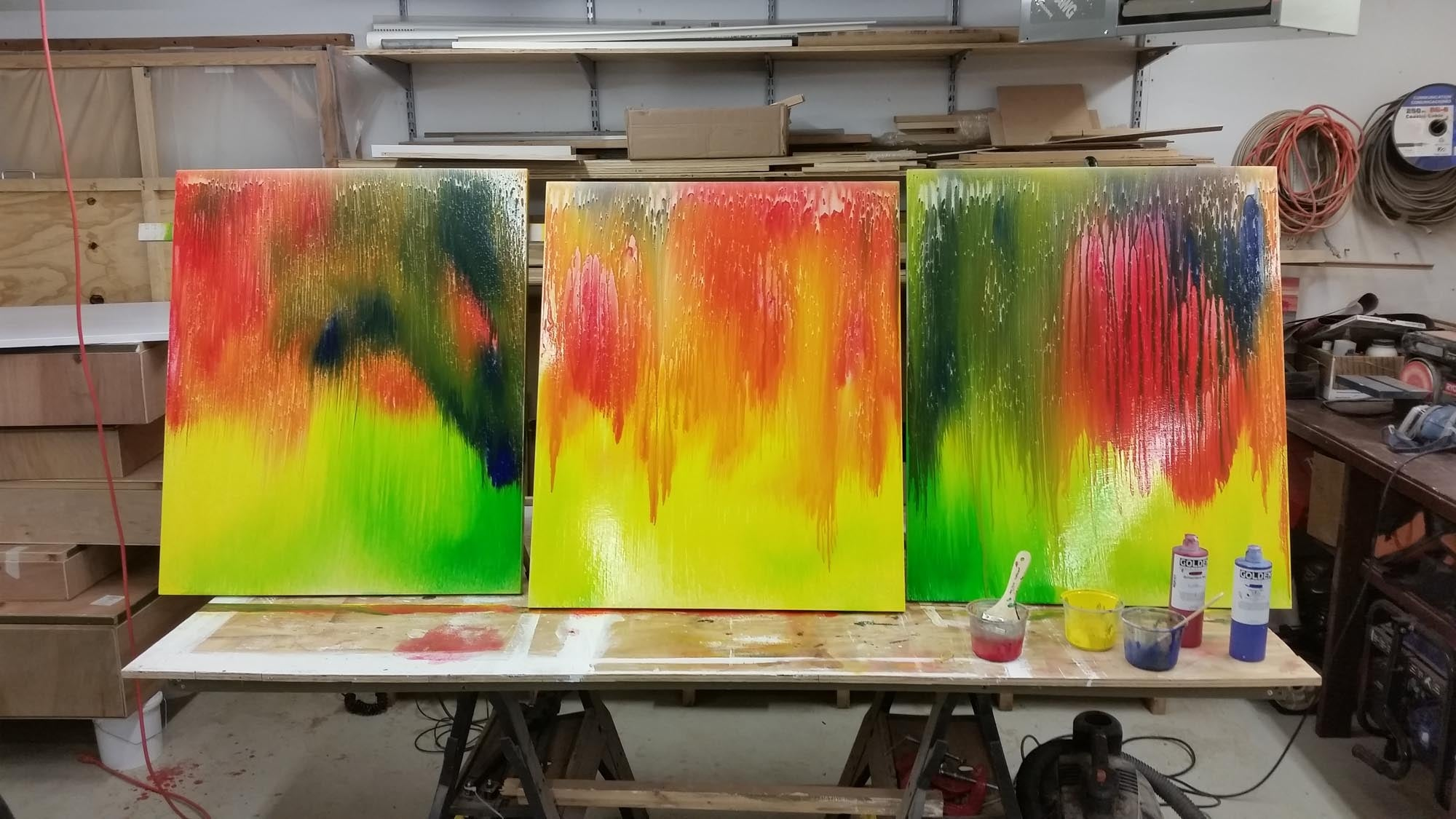 How To Make Large Acrylic Paintings: From Raw Materials To
