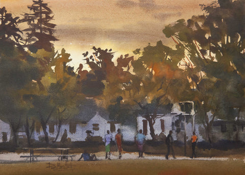 Artist Dan Mondloch Landscape Watercolor Painting, St. Cloud MN