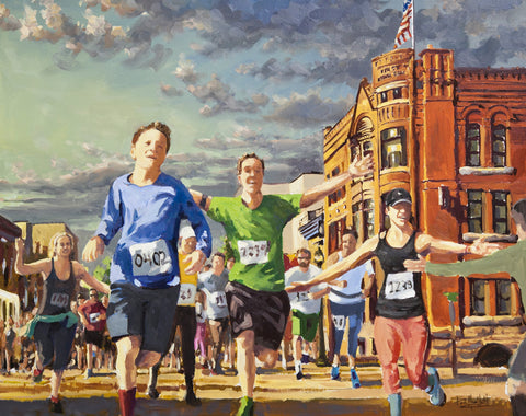20th Anniversary Earth Day Run Commemorative Print
