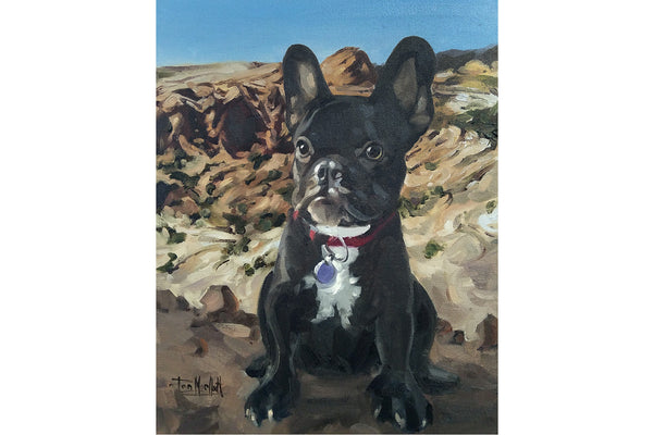 Paint My Pet Dog Portrait 15% donated to Tri County Humane Society
