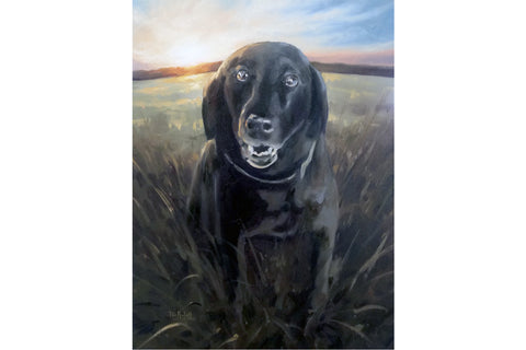 Paint My Pet Dog Portrait 15% donated to Tri-County Humane Society