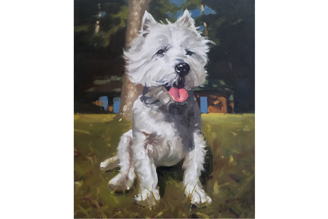 Paint My Pet-Dog Portrait 15% donated to Tri-County Humane Society
