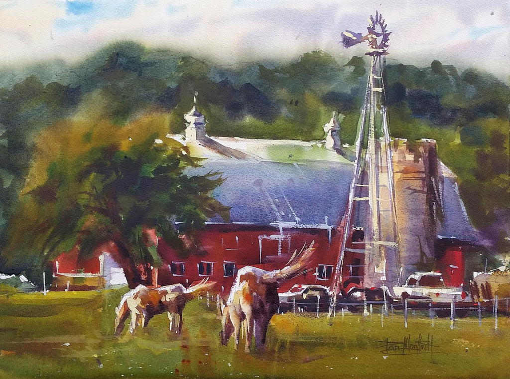 Old Frontenac Horse Farm By Artist Dan Mondloch