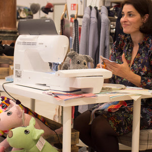 Christina Sanne sewing demo in House of Ireland for Red Rufus