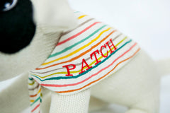 Personalised neck scarf on Patch SockDog