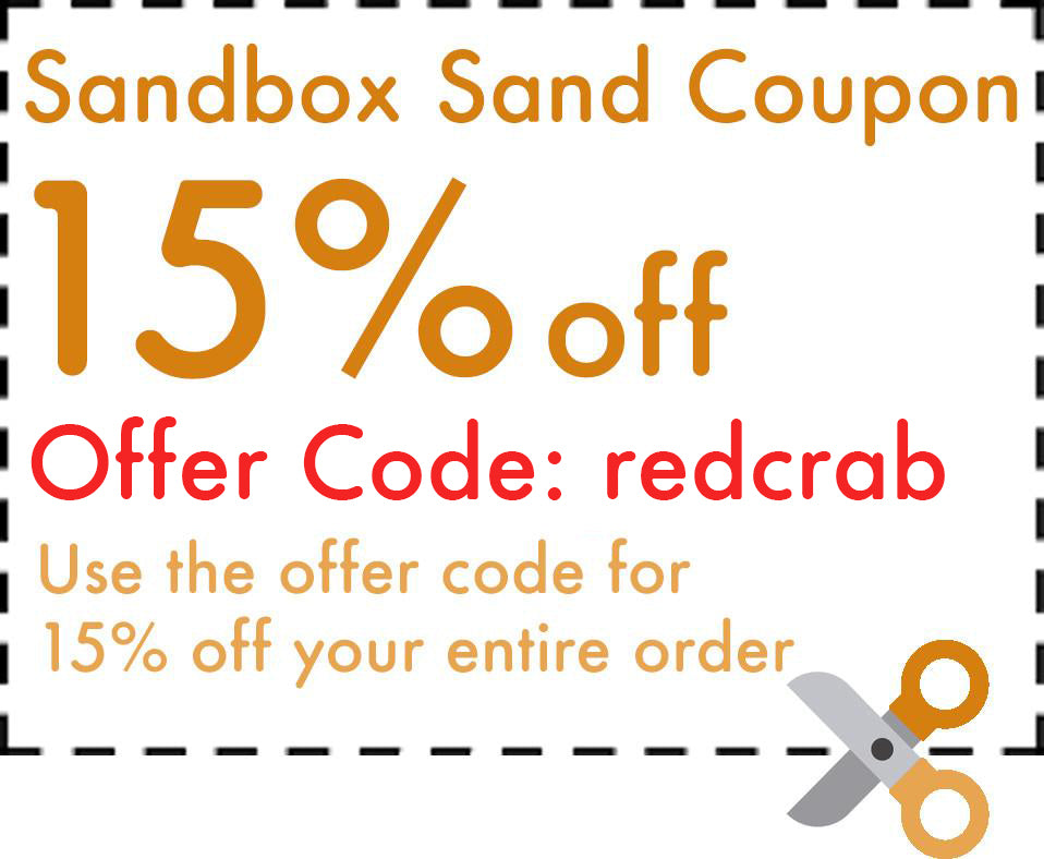 Jurassic Sand Coupon Red Crabbie Sandbox