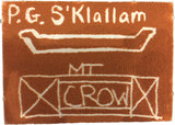 P.G. S'Klallam Mt. Crow NIHSDA Jurassic Sand Rock Art Boards