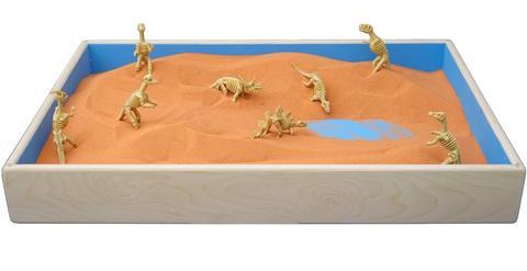 Original Jurassic Sand in a Standard Play Therapy Sandtray