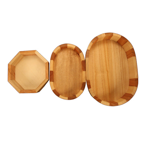 Wooden Oval & Octagon Mini Sand Trays - Jurassic Sands  - 1