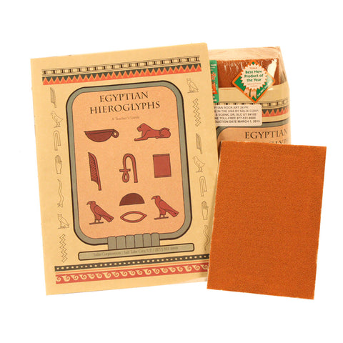 Egyptian Hieroglyphic Rock Art Pack With Guide - Jurassic Sands