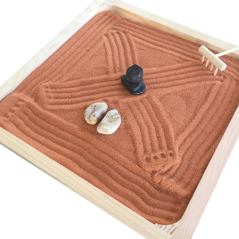 Desk Zen Garden Tray & Your Choice of Sand