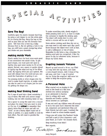 Free Teacher Activity Guide - Jurassic Sands