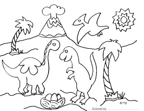 Jurassic Sands Free Coloring Book - Jurassic Sands