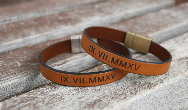 matching leather bracelets for couple