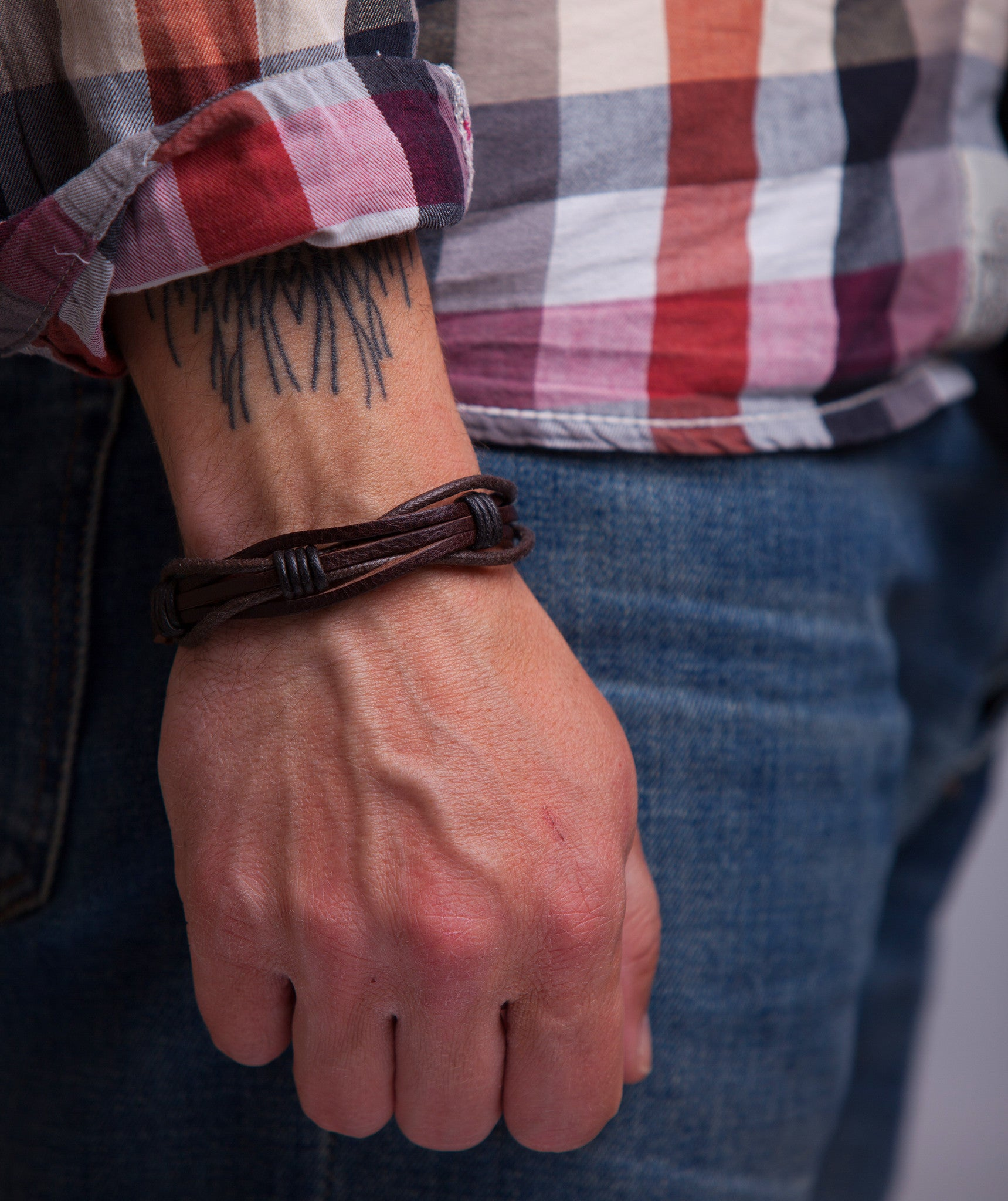 Leather Bracelet for Men Gift for Him