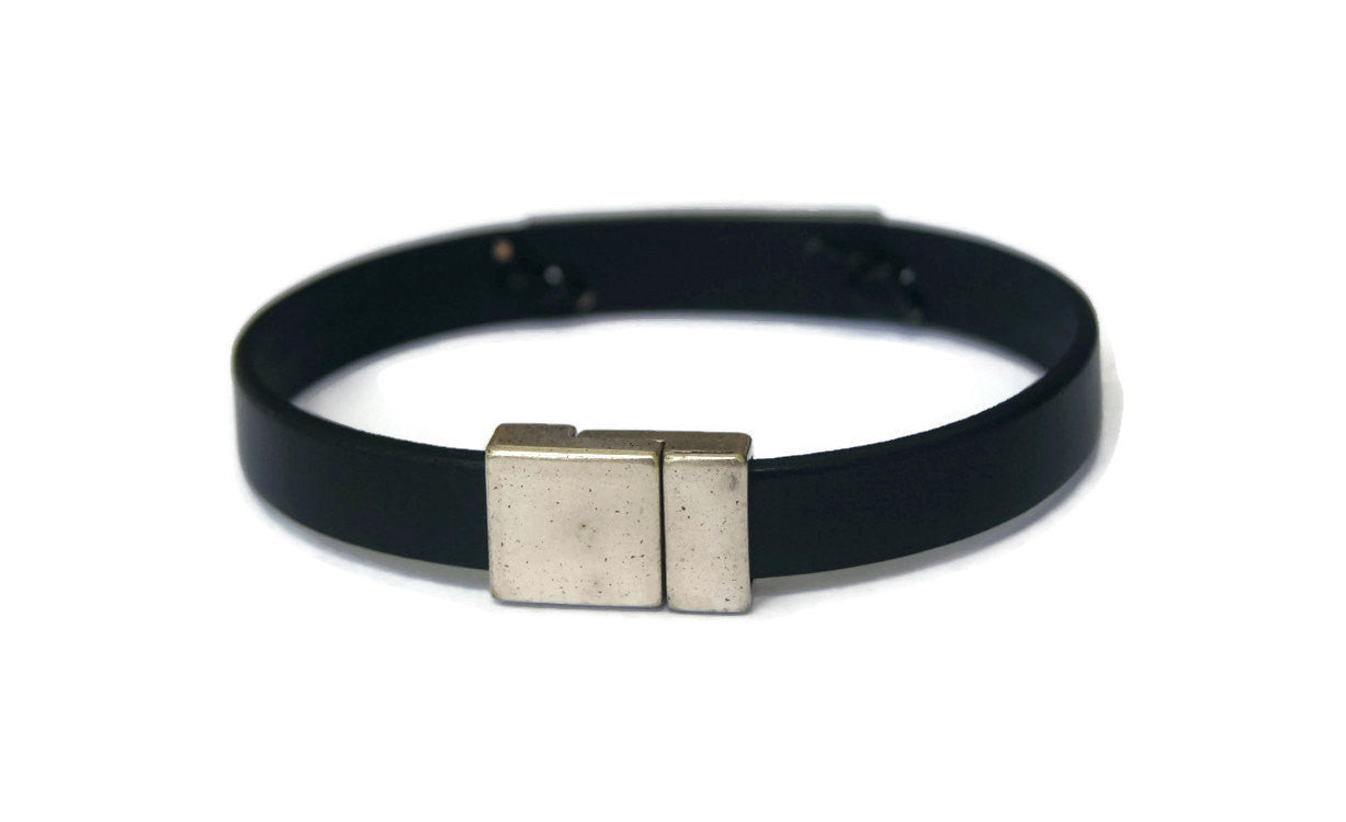 Hope Bracelet Black Men's Leather Bracelet Motivational Gift