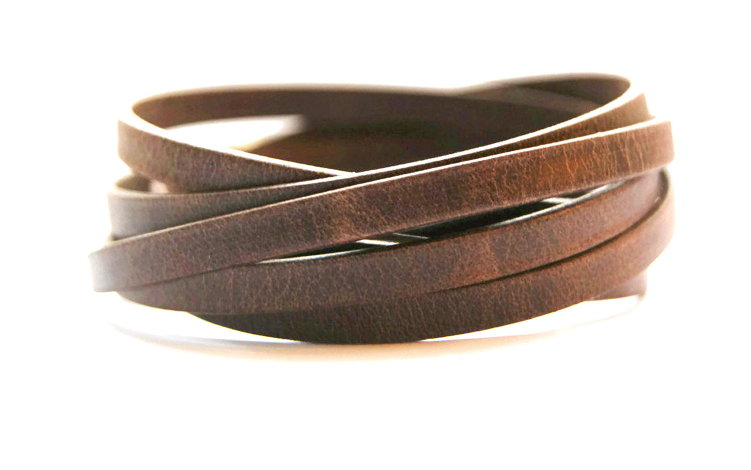 Leather Wrap Bracelet for Women or Men Multi Wrap Leather Cuff Unisex