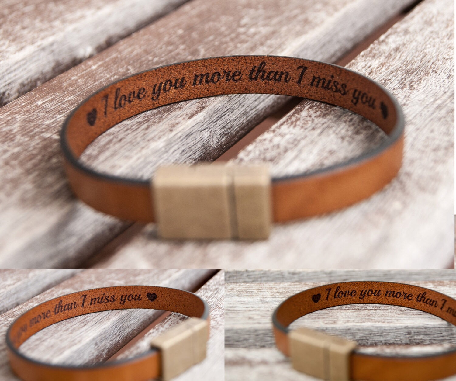 gift for boyfriend personalized leather bracelet