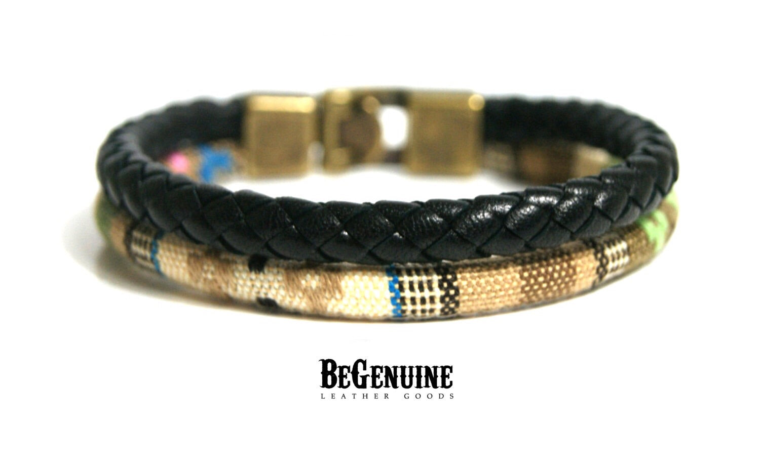 Leather Bracelet for Men Braided Rope Wristband