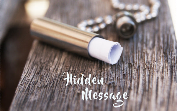Hidden Message Necklace Boyfriend Gift