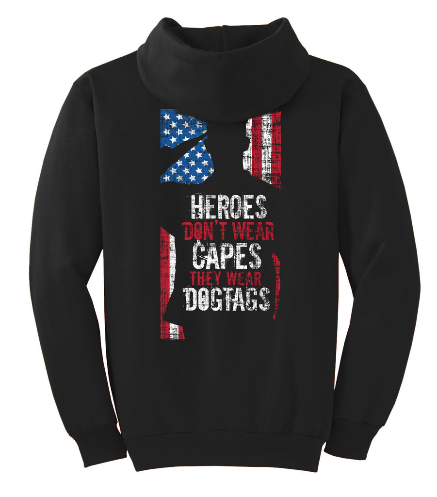Heroes Don't Wear Capes, They Wear Dog Tags T-shirt