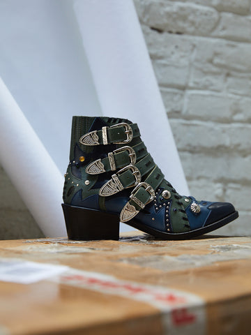 Embellished Buckle Boots