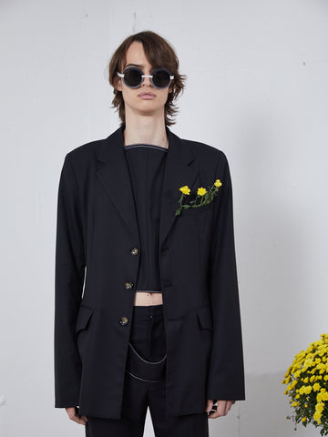 Mid-Length Suit Jacket