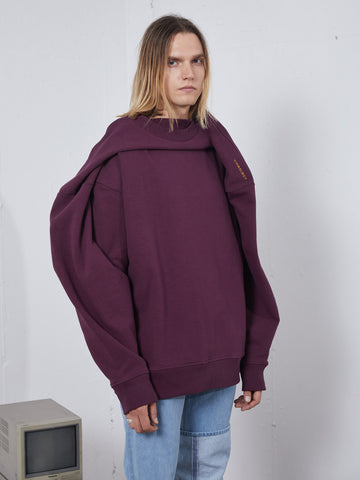 Oversized Shoulder Drape Sweatshirt