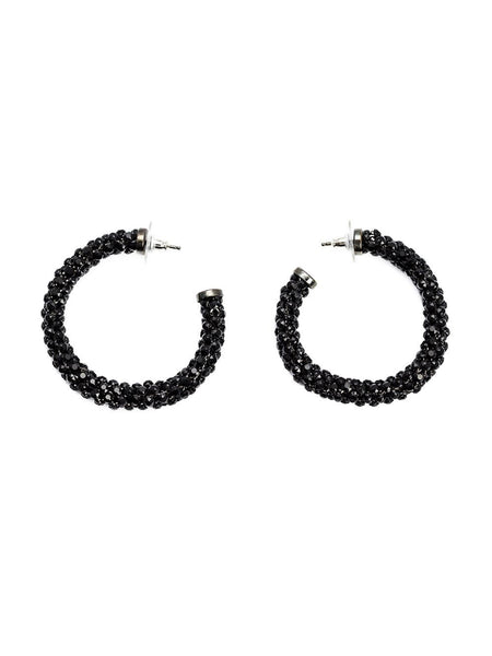 MICHAEL SCHMIDT  Crystal Mesh Hoop Earrings - 1