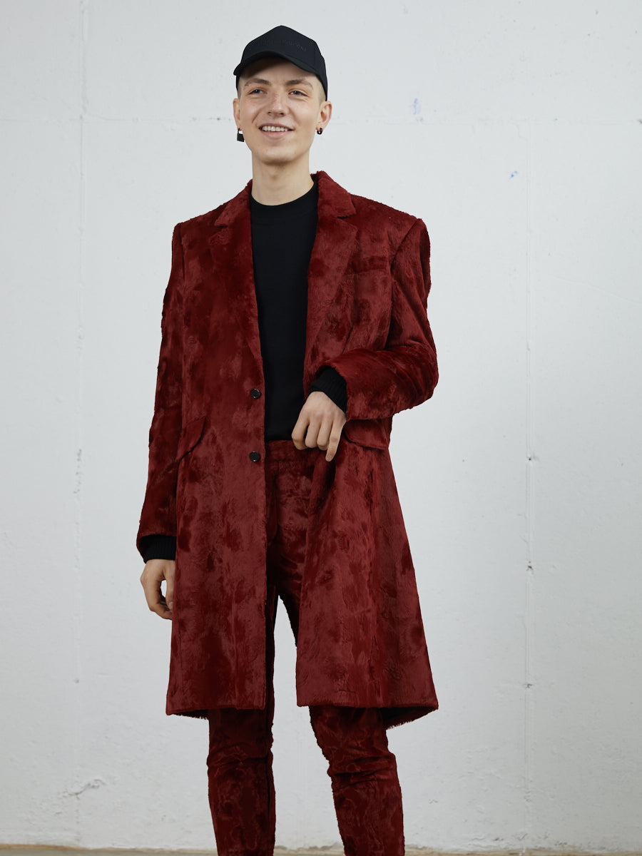 Y Project Faux Fur Long Blazer