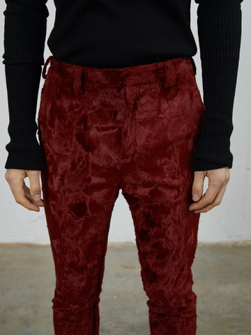 Faux Fur Slim Trousers