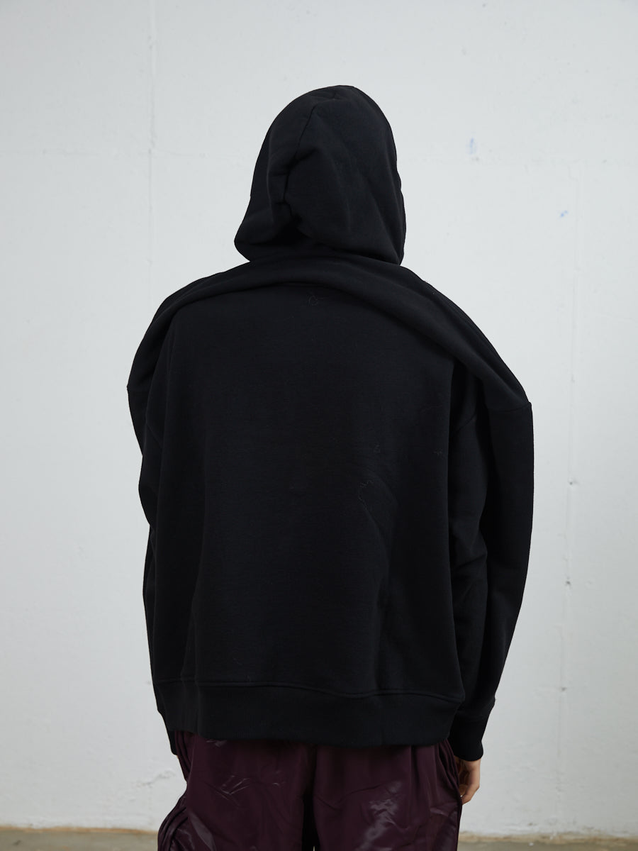 Y Project Draped Shoulder Hoodie