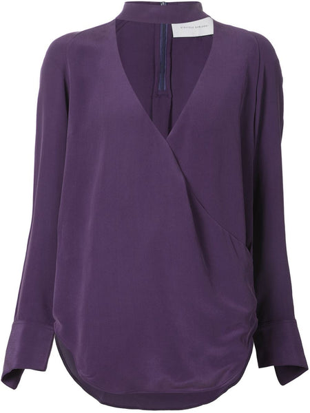 STRATEAS CARLUCCI  Plum Band Crossover Blouse - 1