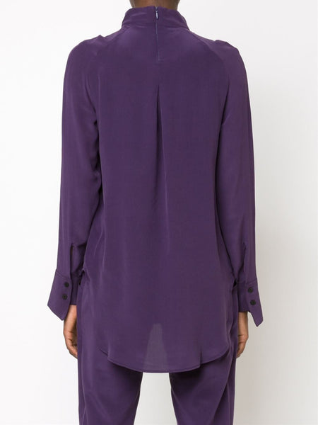 STRATEAS CARLUCCI  Plum Band Crossover Blouse - 4
