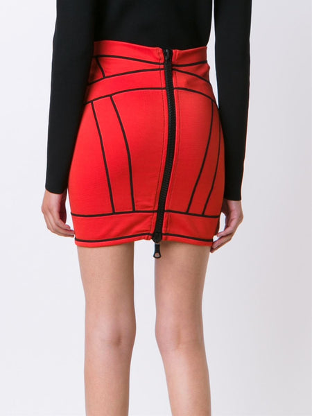 DSQUARED2  Piped Skirt - 4