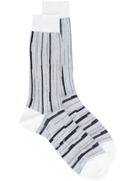 AGI & SAM  White Stripe Socks - 1