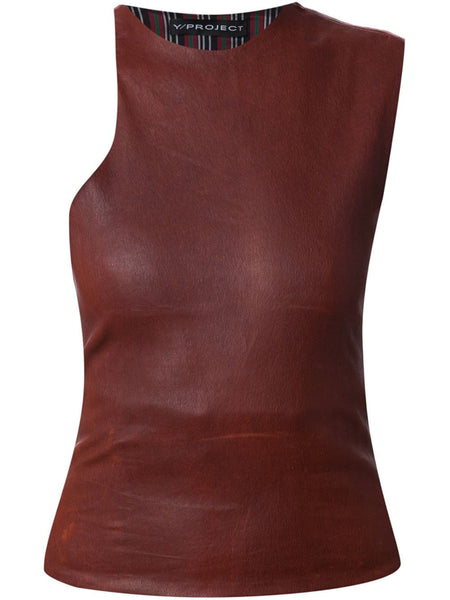 Y/PROJECT  Leather Top - 1