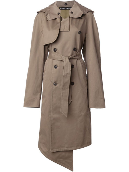 Y/PROJECT  Hooded Trench Coat - 1