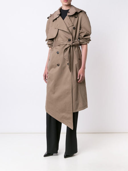 Y/PROJECT  Hooded Trench Coat - 2