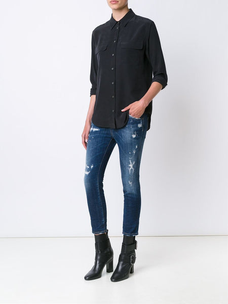 DSQUARED2  Cool Girl Cropped Jean - 2