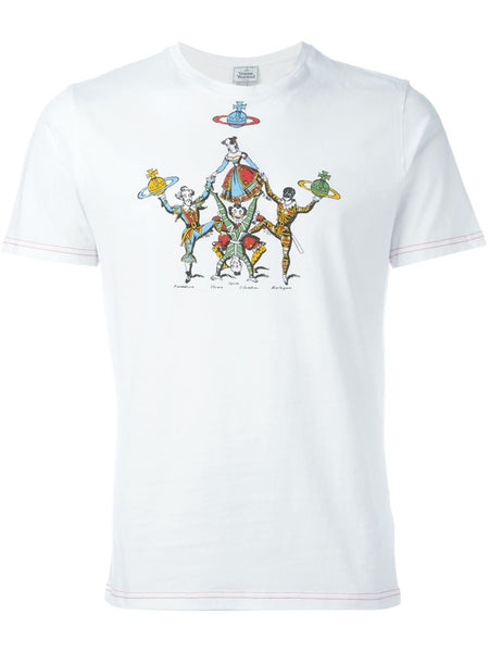VIVIENNE WESTWOOD MAN  White Carnival T-Shirt - 1