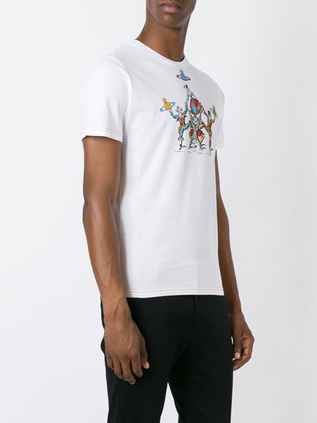 VIVIENNE WESTWOOD MAN  White Carnival T-Shirt - 3