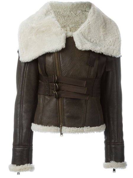 DSQUARED2  Shearling Bondage Jacket - 1