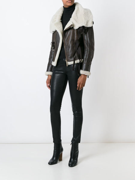 DSQUARED2  Shearling Bondage Jacket - 2