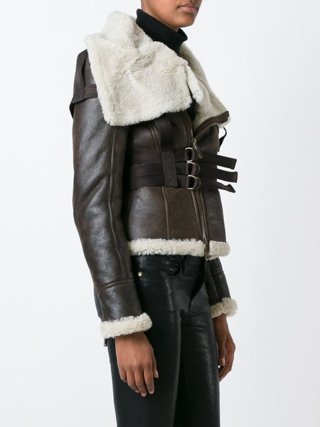 DSQUARED2  Shearling Bondage Jacket - 3