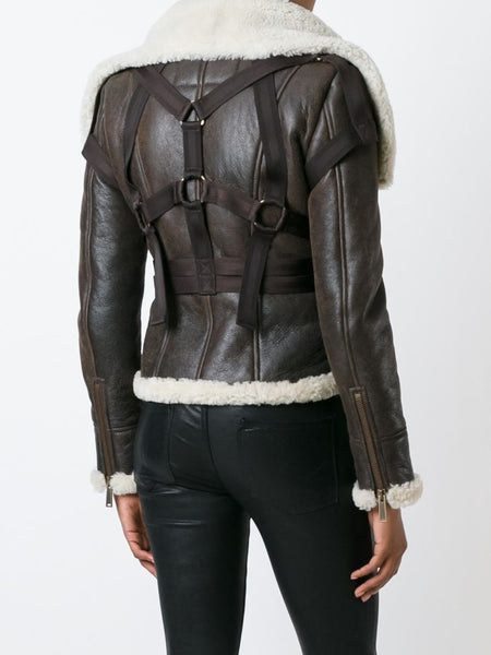 DSQUARED2  Shearling Bondage Jacket - 4