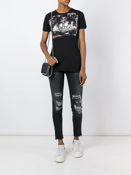 VIVIENNE WESTWOOD ANGLOMANIA  Orb Block T-Shirt - 4