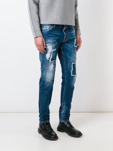 DSQUARED2  Ripped Patch Cool Guy Jean - 3